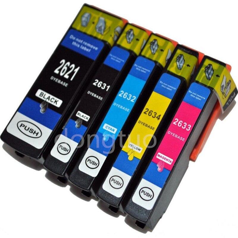 5pcs Ink Cartridge for epson XP600 XP605 xp 800 xp700 XP520 XP620 XP625 XP720 XP820 XP610 XP615 XP710 XP810 T2621 T2631 - T2634
