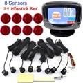 Car auto Sensor de Aparcamiento 8 Sensores Radar de Reserva Reverso Sistema de Asistencia de Estacionamiento LCD Display monitor de timbre de 44 colores para la opción