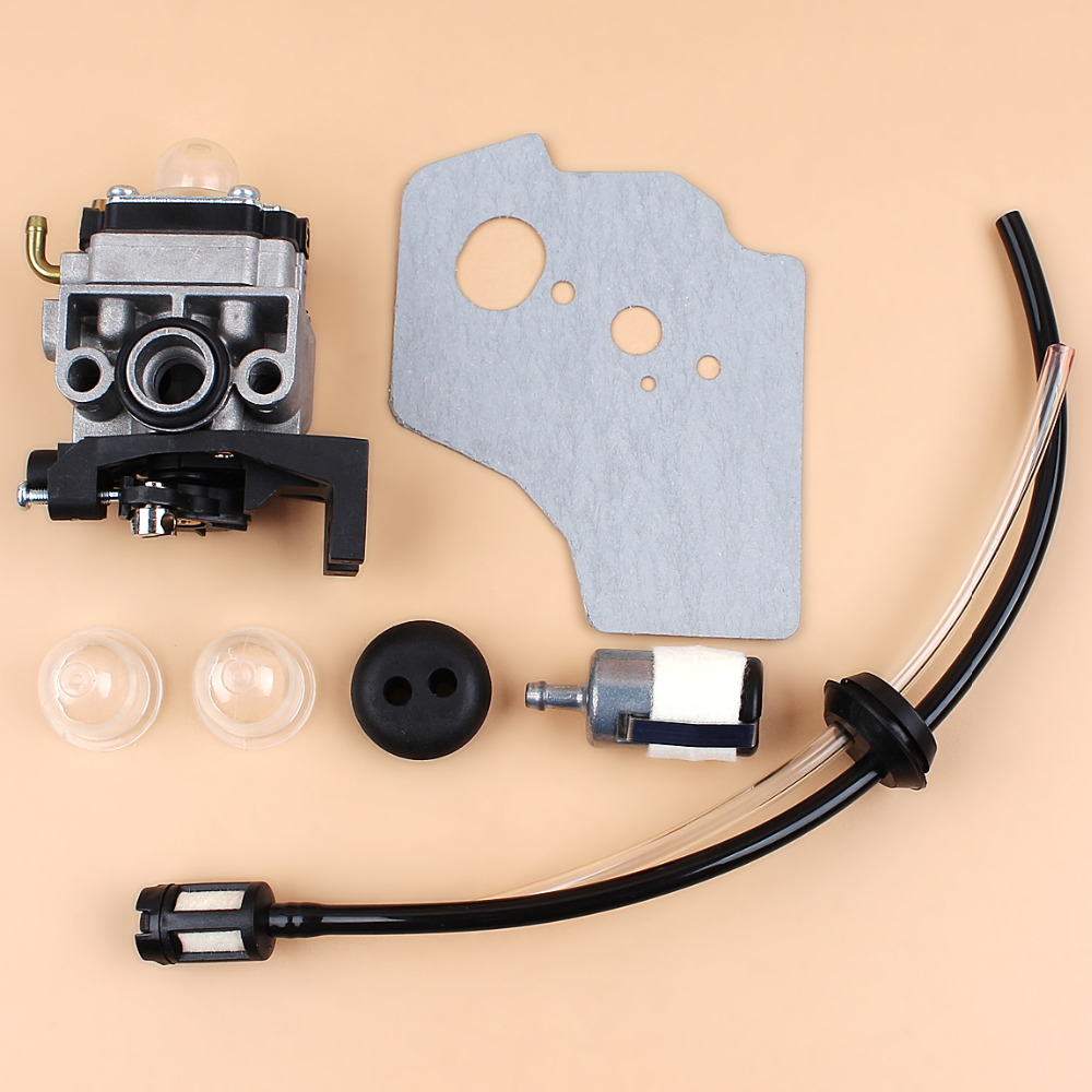 Carburetor Gasket Fuel Hose Grommet Kit Fit Honda GX35 HHT35 HHT35S 16100-Z0Z-034 Trimmer Bush Cutter Gas Engine Motor Parts 3set brush cutter carburetor gasket kit and primer bulb needle 40 5 44f 5 34f 36f 139f gx35 grass trimmer carburetor repair kit