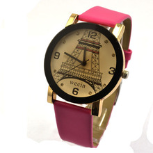 Model PU Leather-based Strap Watch giant dial classic watch man Feminine Unsex Style Iron Tower Watch