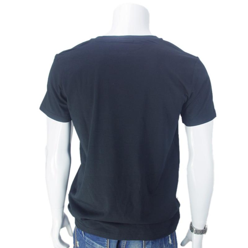 Daybreak i mörkret Tryckt T-shirt Kortärmad Mäns Bomull Svart Hip - Herrkläder - Foto 3