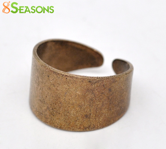 8SEASONS 10 Copper Tone Ring Base Blank Findings US 7(17.5mm) (B13182),