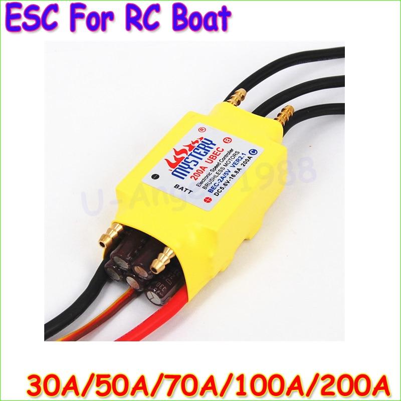 1pcs 2-6S 30A/50A/80A/100A/200A ESC 5V/3A 5V/5A UBEC Brushless Speed Controller ESC For RC Boat UBEC 200A/S