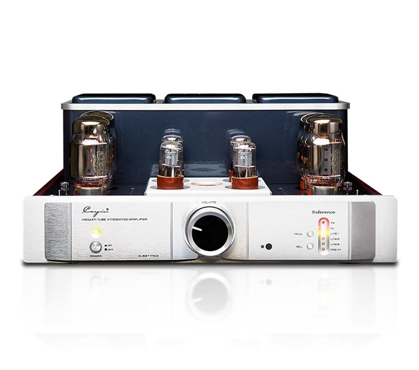 Q-007 QUEENWAY Cayin A-88TMK2 vacuum Tube Amplifier EL34 KT88 6550EH x4 class AB push-pull amplifier TR~UL switch 35W*2