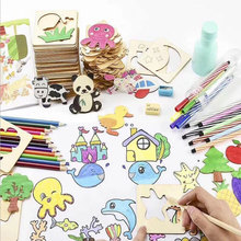 100Pcs Baby Toys Drawing Toys Painting Stencil Templates Coloring Board Children Creative Doodles Early Learning Education Toys
