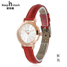 TOP Luxury Clock Woman Fashion Designer Leather Strap Quartz-watch Ladies Watch Brand Women Watches for Girl Reloj Mujer K8011