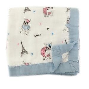 Image 2 - ผลไม้สี่ชั้นไม้ไผ่ muslin ผ้าห่ม Muslin Tree swaddle ดีกว่า Aden Anais เด็ก/ผ้าห่มเด็กทารกห่อ