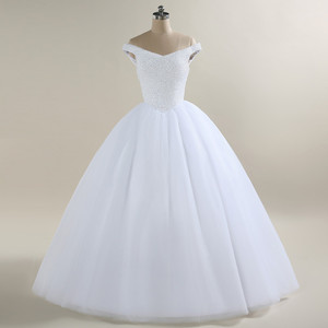 Image 3 - 2020 New Bling Bling Ball Gown Wedding Dress Off the Shoulder Bridal Wedding Gowns