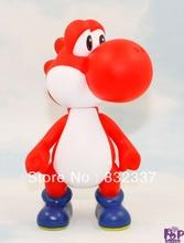 High Quality Super Mario Bros PVC Red Yoshi font b Action b font font b Figure