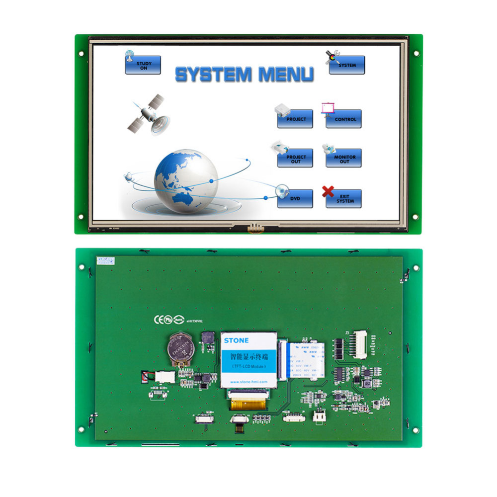 10.1 TFT LCD Monitor With RS485 Touch Screen And Command Sets10.1 TFT LCD Monitor With RS485 Touch Screen And Command Sets