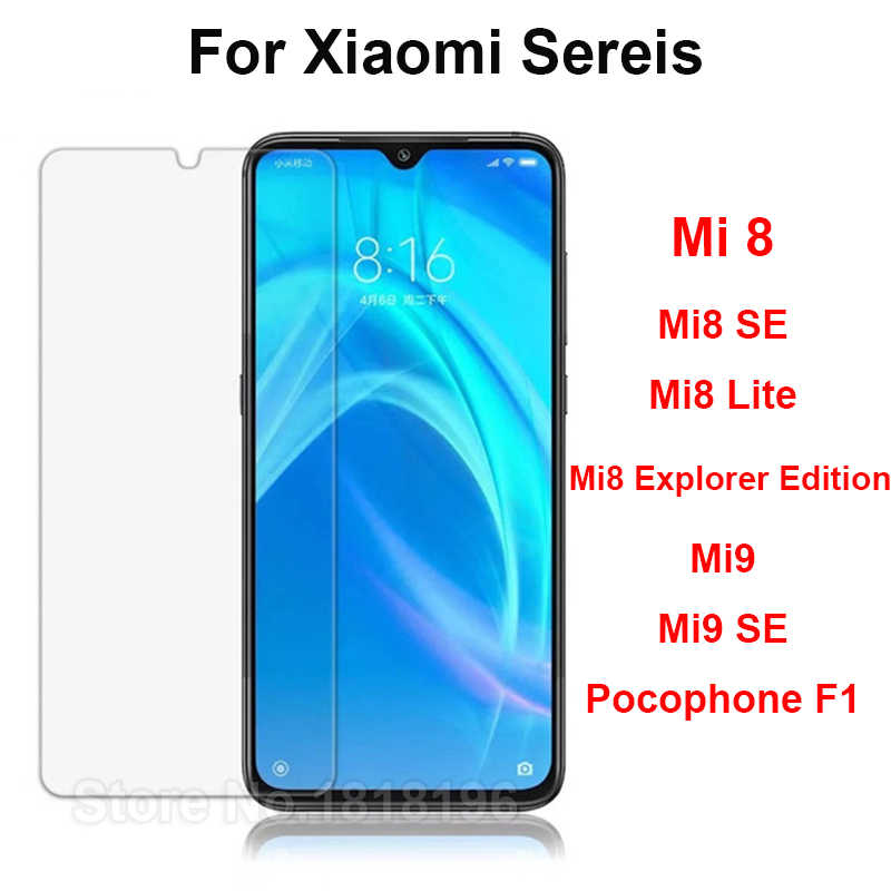 Xiaomi Mi 9 Mi9 Tempered Glass Xiaomi Mi8 Mi 8 Lite Screen Protector For Xiaomi M9 Mi8 Mi8 SE Case Glass Phone Film Pocophone F1