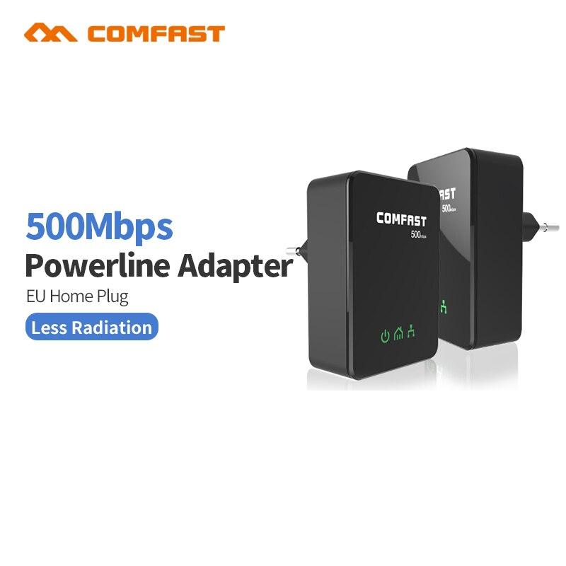 Comfast cf-wp500m 500 mbps powerline adapter eu stecker adapter ethernet bridge stromleitung...