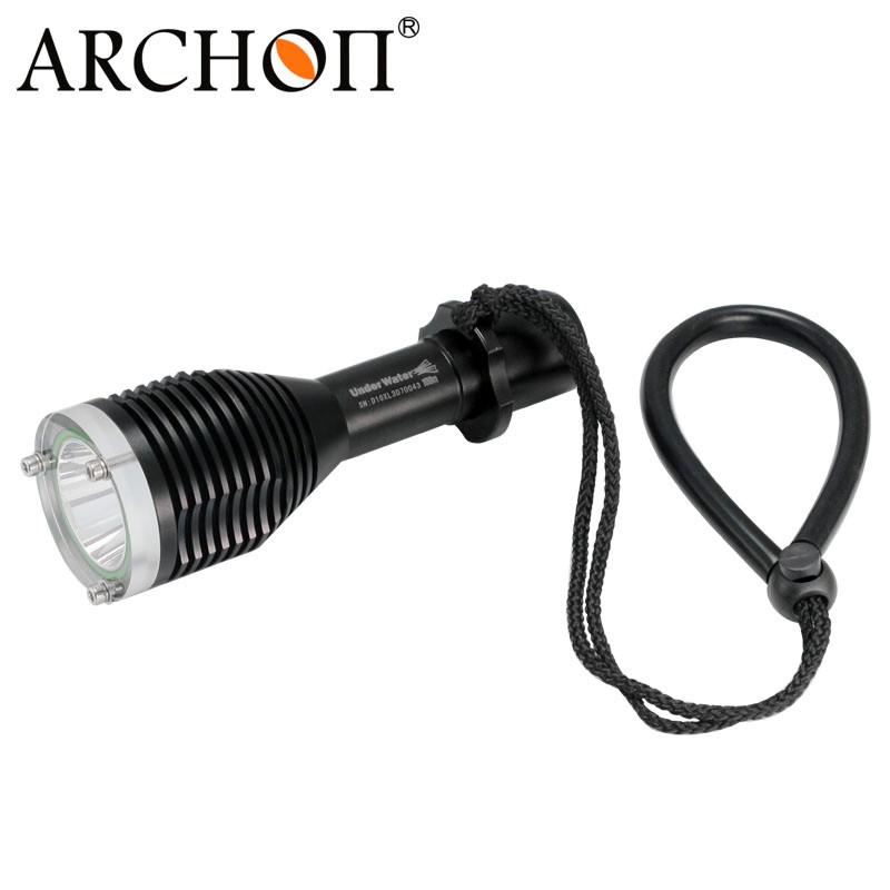 ARCHON D10XL 3-Mode White Diving Flashlight Underwater 100M Torch Waterproof LED Light by 18650 Battery for  Outdoor Sports