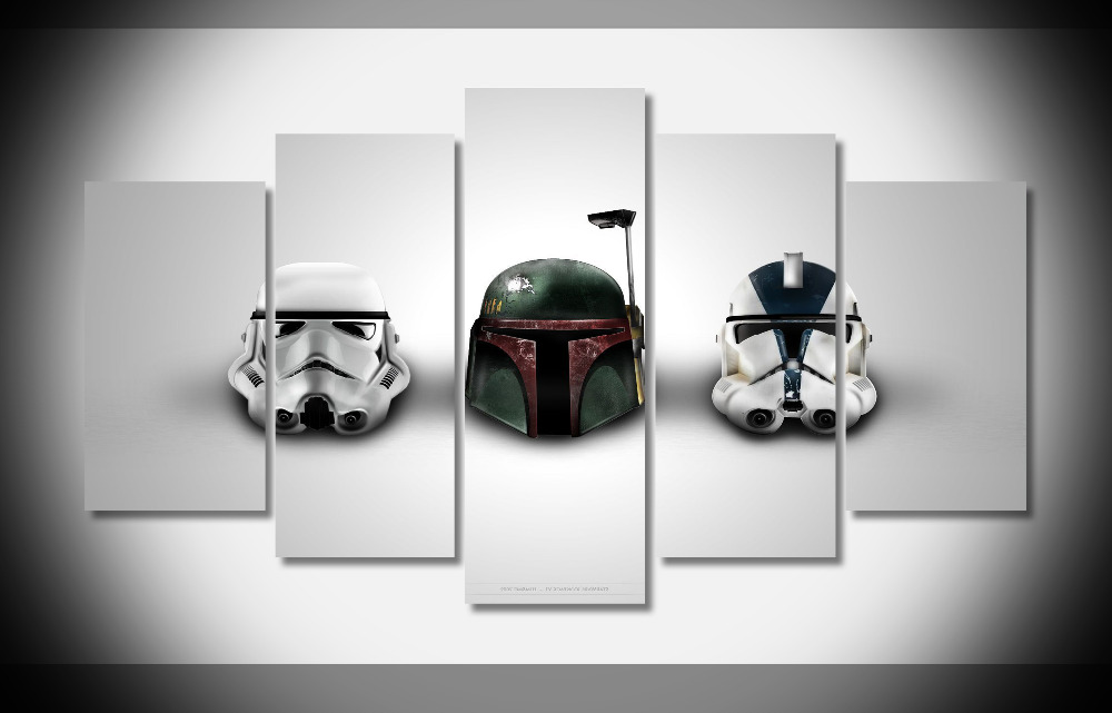 2599 star wars helmet movie Poster Framed Gallery wrap art print home wall decor wall picture Already to hang digital print