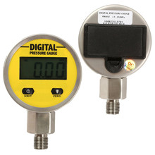 Pressure Gauges Digital Display Oil Pressure Hydraulic Pressure Test Meter 3V 250BAR/25Mpa 2 Points Thread For Gas Water Oil