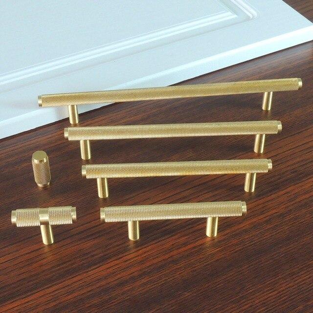 modern drawer pulls. Knurled/Textured Modern Cabinet Handles Gold Kitchen Drawer Pulls Bathroom Knobs Brass T Bar R