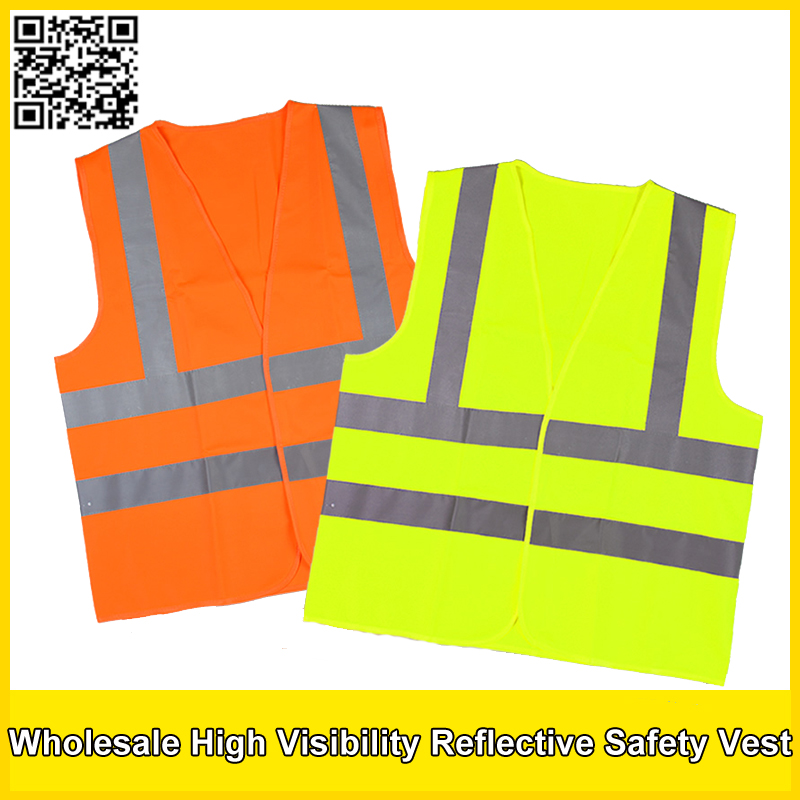 wholesale safety vest polyester knitted safety vest reflective vest construction /traffic safety clothing free shipping