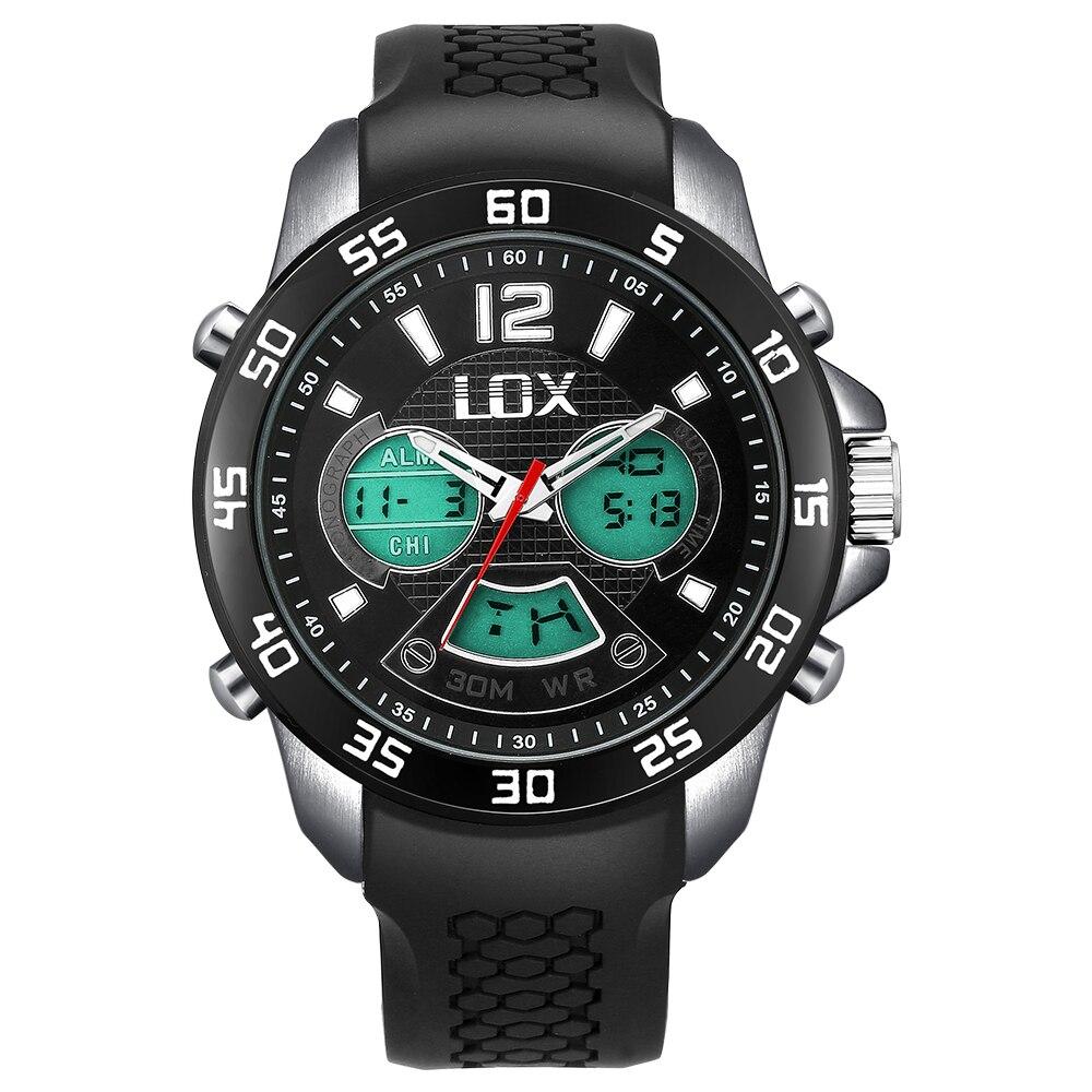 LOX Տղամարդկանց սպորտային անալոգային - Տղամարդկանց ժամացույցներ - Լուսանկար 2