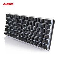 Ajazz AK33 82 phím Nga Keyboard Bàn Phím Cơ Khí Gaming Keyboard Có Dây đèn nền màu trắng Switch Xanh Nhôm + Chất Liệu ABS