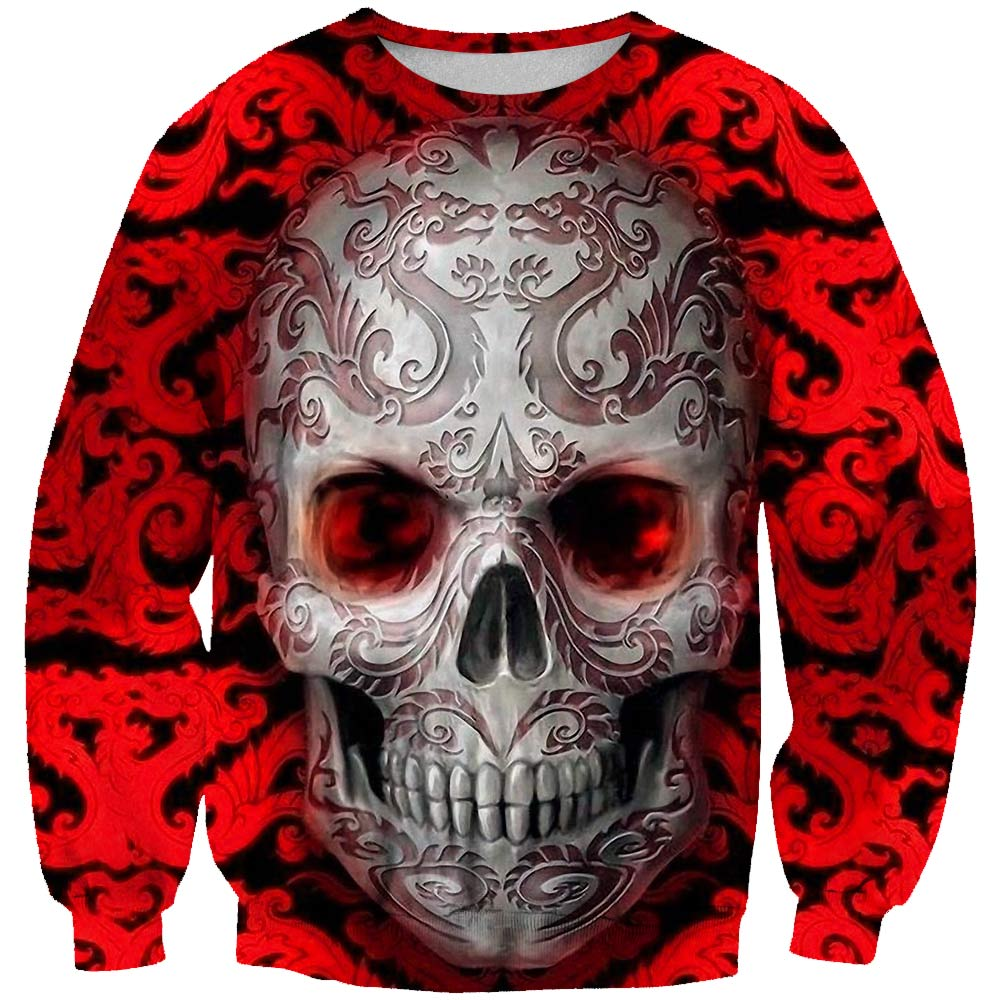 Red sugar skull Printed 3D Print  Men Women Sweatshirts Fashion Casual Tracksuits Asian Size Quality Streetwear
