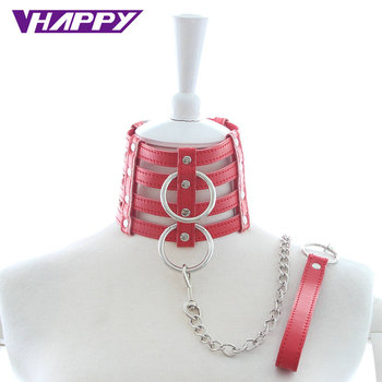 10pcs/lot Drag Chain PU Neck Collar Slave Harness Bondage Adult Fetish Product Sex Game Toys For Couples Wholesale offer Quality