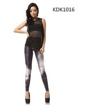 Fashion 3D printing leggings Women galaxy elastic leggings Sexy wearproof leggings