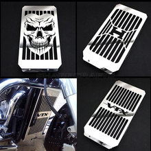 واقي حماية غطاء شبكة الرادياتير لجمجمة الدراجة النارية من الكروم عالي الجودة للدراجة النارية Honda VTX1800 VTX 1800 C F N R S T 2002 2008 2007