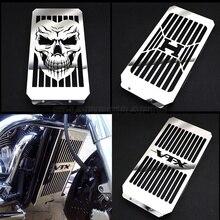 Top Quality Motorcycle Chrome Skull Radiator Grill Cover Guard Protector For Honda VTX1800 VTX 1800 C F N R S T 2002   2008 2007