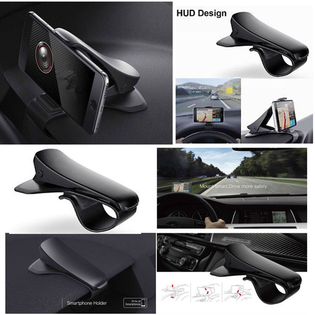Drop Shipping Universal Retro Design Car Dashboard Cell Phone GPS Mount Holder Stand HUD Design Cradle New Car-Styling