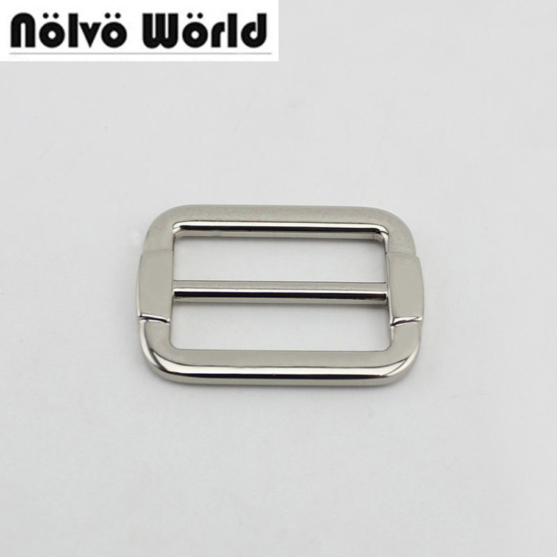 50pcs 32*20mm(1.2 Inch) Sewing Craft,belts Bags Fasteners,Buckle Strap Adjuster Metal Welded Tri Glide Slider Buckles