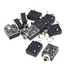 цена на 10 Pcs Plastic PCB Mount 5-Pin Stereo 3.5mm Socket Audio Connector