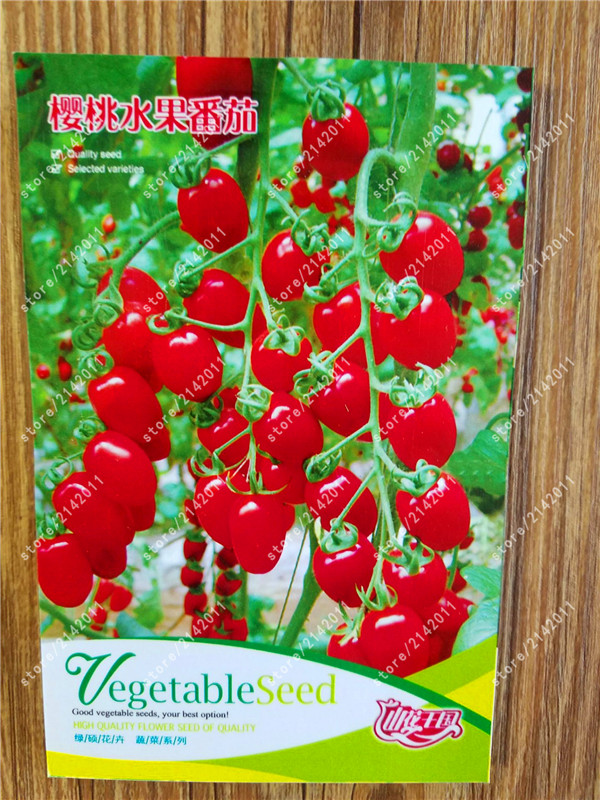True red cherry tomato seeds Time-limited Regular Novel potted Plants seeds vegetables for home garden 100% real factory package