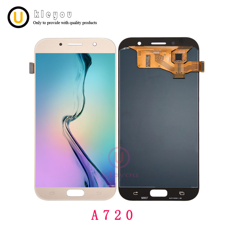 100% LCD D'origine Pour Samsung Galaxy A7 2017 A720 A720F SM-A720F LCD Display + Écran Tactile Digitizer Assemblée