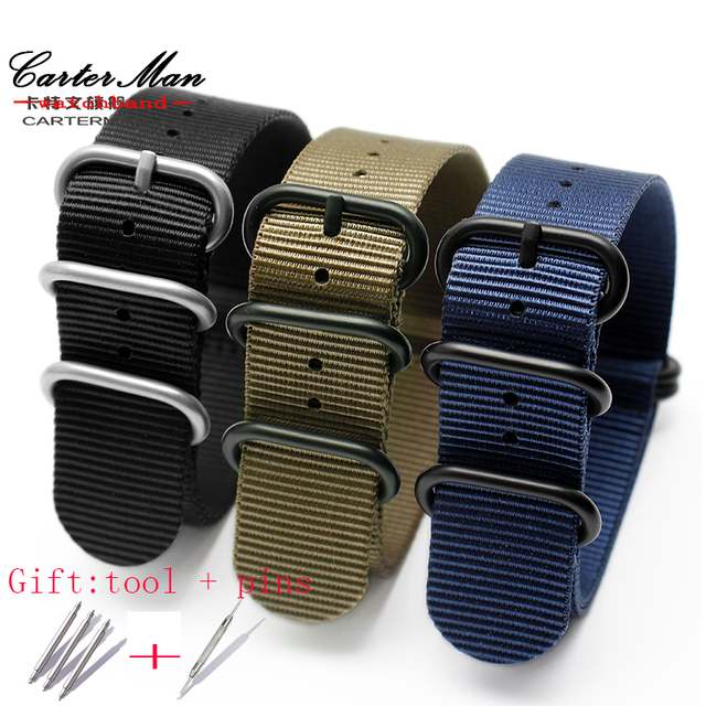 18mm 20mm 22mm 24mm 26mm High quality watch strap fit Zulu nylon watchband for n
