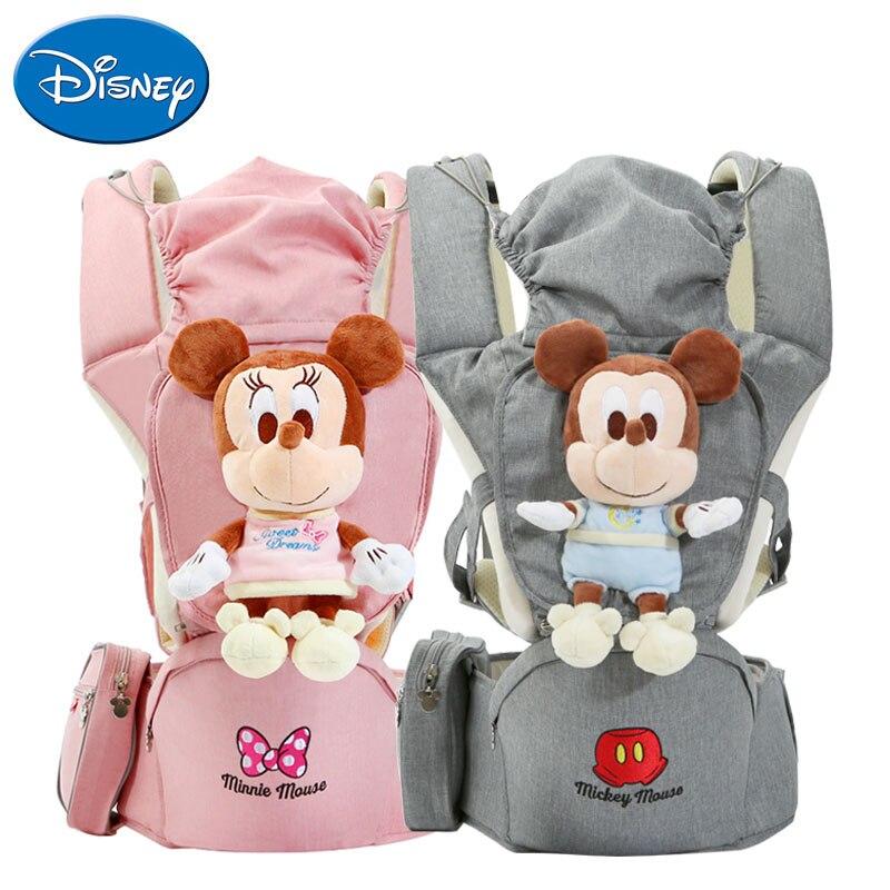 DISNEY Portabebe 3 en 1 porte-bébé écharpe siège de hanche 4D dessin animé poupée conception bébé écharpe avec coupe-vent chapeau ergonomique porte-bébé
