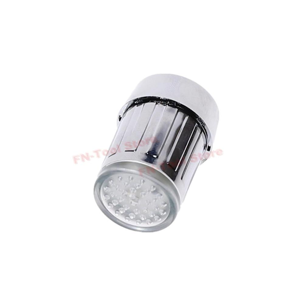 THGS 3-color Water Glow LED Faucet Light Temperature Sensor