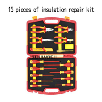 15 шт./компл. комплект для ремонта изоляции электрик специальные теплоизоляционные инструменты изоляция 1000 в ремонтный комплект портативно