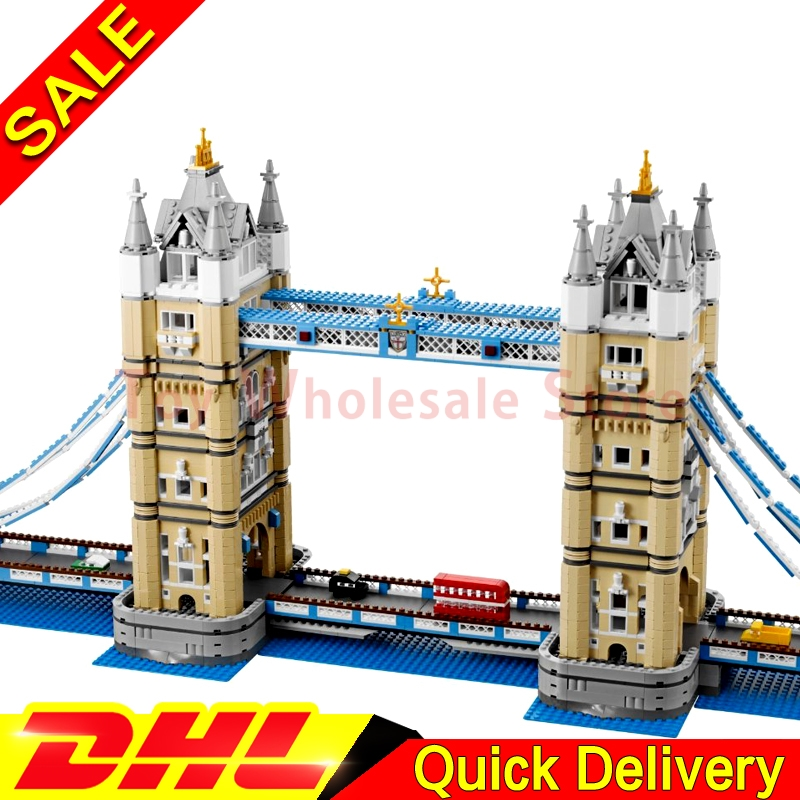LEPIN 17004 City Street London bridge Model Building Kits Assembling Brick Educational Gift lepins Toys Clone 10214 in stock new lepin 17004 city street series london bridge model building kits assembling brick toys compatible 10214