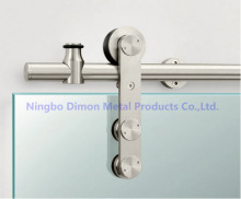 Dimon Stainless steel door hardware glass sliding hanging wheel barn