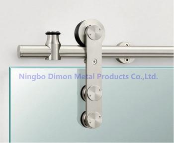 Dimon Stainless steel door hardware glass sliding door hardware hanging wheel high quality sliding door hardware DM-SDG 7002 цена 2017