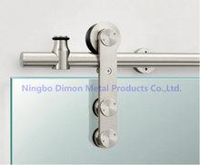 Dimon-herrajes de puerta de acero inoxidable, herrajes de puerta corredera de vidrio, rueda colgante, herrajes de puerta corredera de alta calidad, DM-SDG 7002