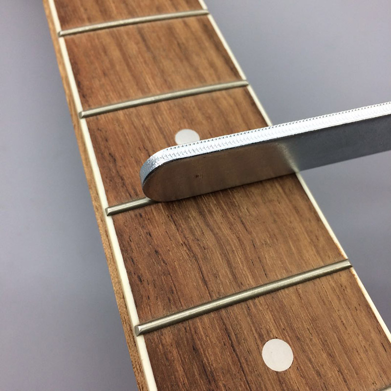 Guitar Bass Professional Tools Fret File For Guitar Fret Crowning Luthier File Alloy Narrow Dual Cutting Edge Tool