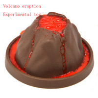 Vroegschoolse onderwijs simulatie vulkaan uitbarsting van chemische wetenschap en technologie productie DIY experiment set
