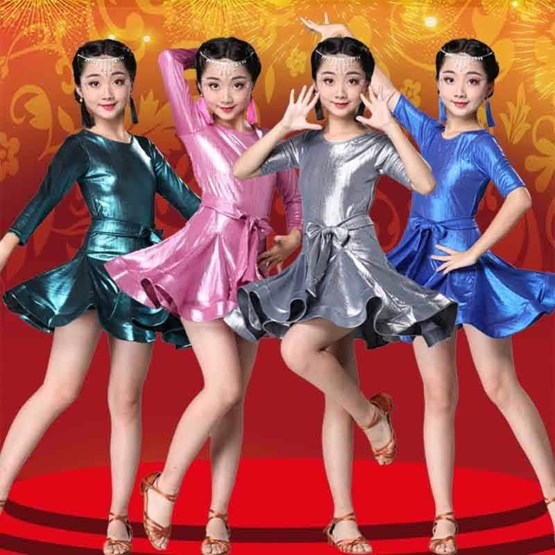 Vestido de baile latino para chica, ropa de baile latino, ropa de Tango, ropa de práctica profesional
