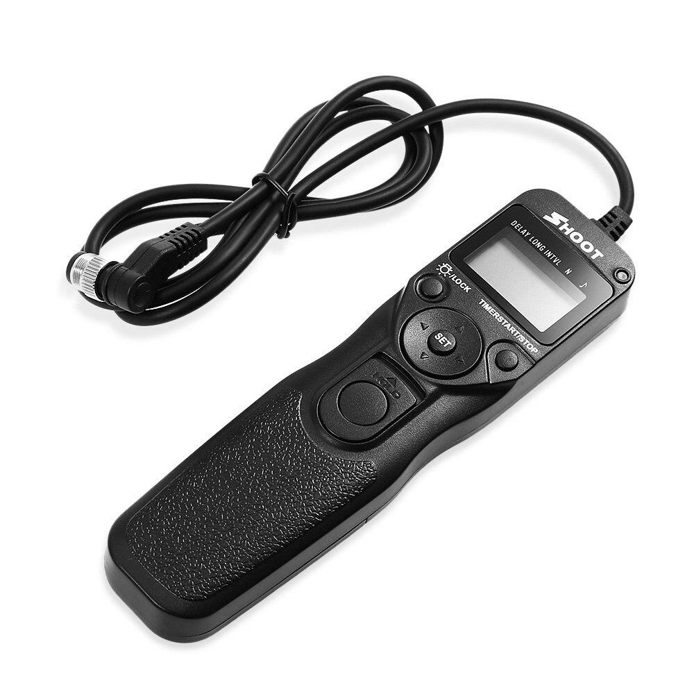 SHOOT MC-30 LCD Timer Remote Control Shutter Release for Nikon D800 D810 N90S KODAK DCS620 FUJI S3 Film SLR F6/F5 DLSR Camera SHOOT MC-30 LCD Timer Remote Control Shutter Release for Nikon D800 D810 N90S KODAK DCS620 FUJI S3 Film SLR F6/F5 DLSR Camera