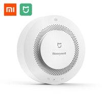 Originele Xiaomi Mijia Honeywell Brandalarm Detector Afstandsbediening Hoorbare Visuele Alarm Notication Werk met Mi Thuis APP