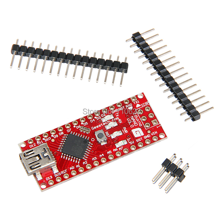 Geeetech Integrated Circuits Atmel ATmega328 Board with Mini USB Cable Compatible for Arduino Nano V3.0