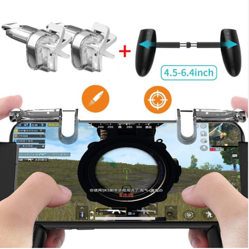 For PUBG STG FPS Game Trigger Cell Phone Mobile Controller Fire Button Gamepad L1R1 Lens Key Joystick for iphone samsung