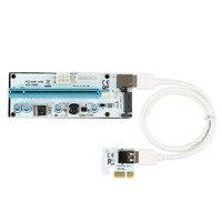 10PCS 008S PCIe PCI E Express Riser Card 1x To 16x USB 3 0 Data Cable