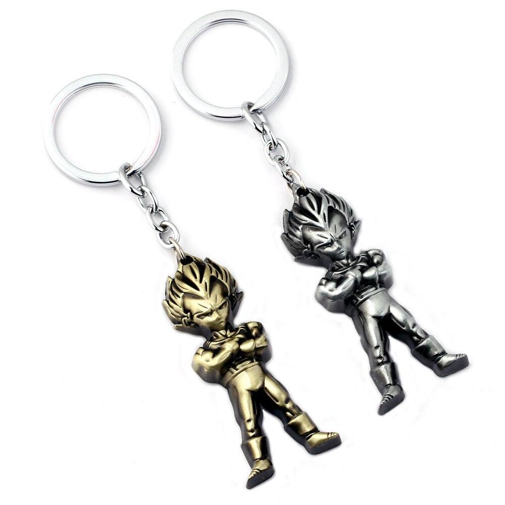 SamYeung Dragon Ball Super Saiyan KeyChains For Boys Figure Key Chain Metal Key Holder Key Ring Porte Clef Birthday Souvenir